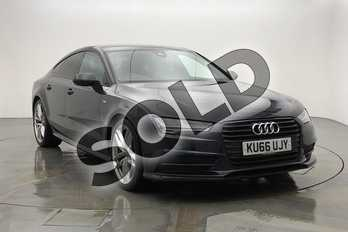Audi A7 3.0 TDI Ultra S Line 5dr S Tronic in Moonlight Blue Metallic at Worcester Audi
