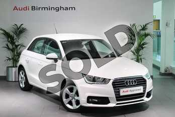 Audi A1 1.0 TFSI Sport Nav 5dr in Shell White at Birmingham Audi