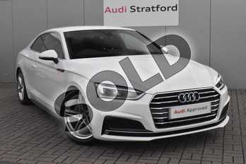 Audi A5 2.0 TDI S Line 2dr S Tronic in Ibis White at Stratford Audi