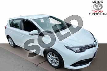Toyota Auris 1.8 Hybrid Business Edition TSS 5dr CVT in Pure White at Listers Toyota Cheltenham