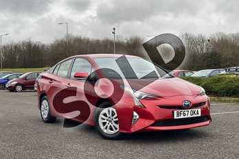 Toyota Prius 1.8 VVTi Business Edition 5dr CVT in Hypersonic Red at Listers Toyota Cheltenham