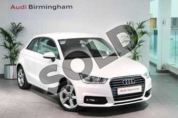 Audi A1 1.6 TDI Sport 3dr in Shell White at Birmingham Audi