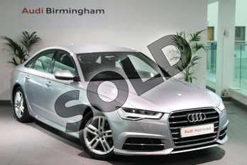 Audi A6 2.0 TDI Ultra S Line 4dr S Tronic in Floret Silver Metallic at Birmingham Audi