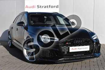 Audi RS4 RS 4 TFSI Quattro Sport Edition 5dr S Tronic in Myth Black Metallic at Stratford Audi