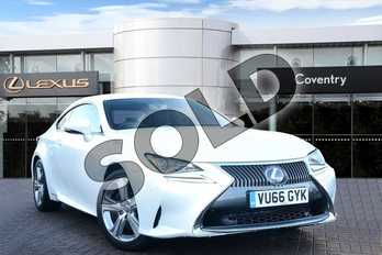 Lexus RC 300h 2.5 Luxury 2dr CVT in Sonic White at Lexus Coventry