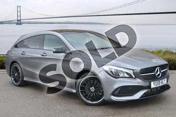 Mercedes-Benz CLA Class CLA 220 AMG Line Night Ed Plus 4Matic 5dr Tip Auto in mountain grey metallic at Mercedes-Benz of Hull