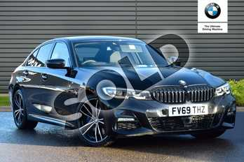 BMW 3 Series 320d M Sport 4dr Step Auto in Black Sapphire metallic paint at Listers Boston (BMW)