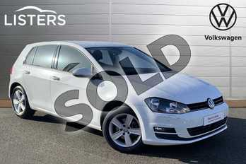 Volkswagen Golf 1.4 TSI 125 Match Edition 5dr in Pure white at Listers Volkswagen Stratford-upon-Avon