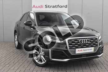 Audi Q2 1.0 TFSI S Line 5dr in Myth Black Metallic at Stratford Audi