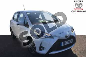 Toyota Yaris 1.5 VVT-i Icon Tech 5dr in Pure White at Listers Toyota Cheltenham