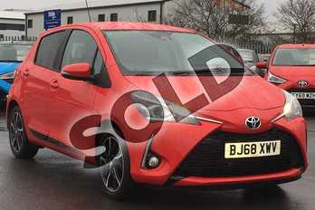 Toyota Yaris 1.5 VVT-i Design 5dr in Red at Listers Toyota Cheltenham