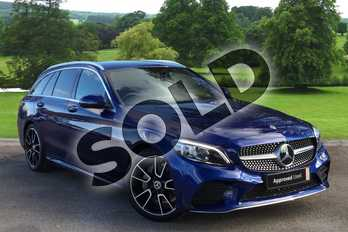 Mercedes-Benz C Class C200 AMG Line Premium 5dr 9G-Tronic in brilliant blue metallic at Mercedes-Benz of Grimsby
