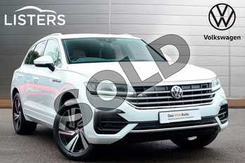 Volkswagen Touareg 3.0 V6 TDI 4Motion 231 R Line Tech 5dr Tip Auto in Pure White at Listers Volkswagen Coventry