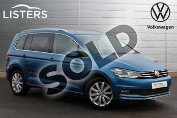Volkswagen Touran 1.4 TSI SEL 5dr DSG in Caribbean Blue at Listers Volkswagen Nuneaton