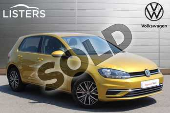 Volkswagen Golf 1.0 TSI 110 SE (Nav) 5dr in Turmeric Yellow at Listers Volkswagen Nuneaton