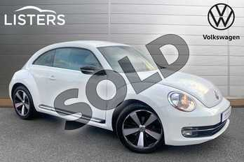 Volkswagen Beetle 1.4 TSI 150 Sport 3dr in Pure white at Listers Volkswagen Stratford-upon-Avon
