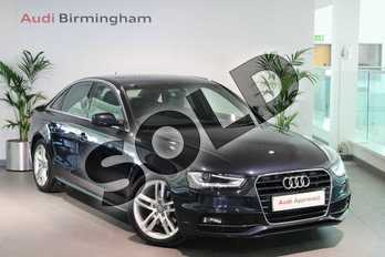 Audi A4 2.0 TDI 150 S Line 4dr in Moonlight Blue, metallic at Birmingham Audi