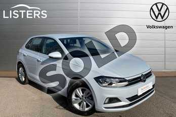 Volkswagen Polo 1.0 TSI 95 SE 5dr in White Silver at Listers Volkswagen Leamington Spa