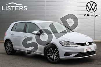 Volkswagen Golf 1.6 TDI SE 5dr DSG in White Silver at Listers Volkswagen Nuneaton