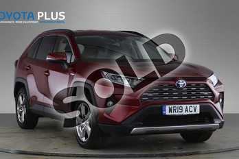 Toyota RAV4 2.5 VVT-i Hybrid Design 5dr CVT 2WD in Red at Listers Toyota Nuneaton