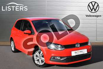 Volkswagen Polo 1.2 TSI Match 3dr in Flame Red at Listers Volkswagen Evesham