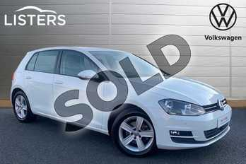 Volkswagen Golf 1.4 TSI Match 5dr in Pure white at Listers Volkswagen Stratford-upon-Avon