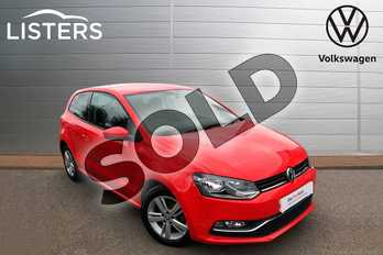 Volkswagen Polo 1.2 TSI Match 3dr in Flash Red at Listers Volkswagen Worcester