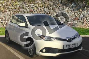 Toyota Auris 1.2T Business Edition 5dr in White at Listers Toyota Boston