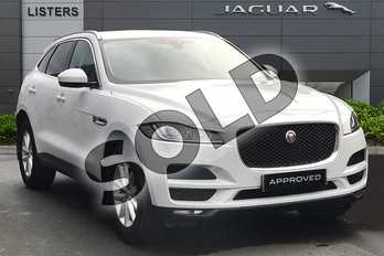 Jaguar F-PACE 2.0d Prestige 5dr in Yulong White at Listers Jaguar Solihull