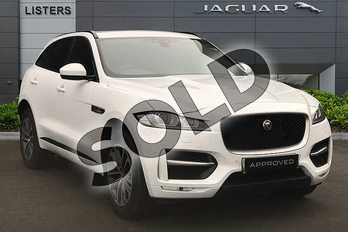 Jaguar F-PACE 2.0d R-Sport 5dr Auto AWD in Fuji White at Listers Jaguar Solihull