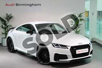 Audi TT 45 TFSI Quattro Black Edition 2dr S Tronic (Tech) in Glacier White Metallic at Birmingham Audi