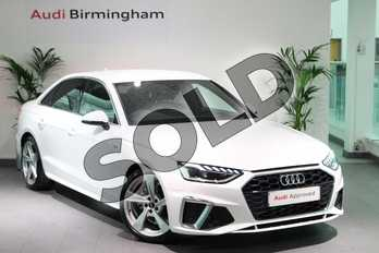 Audi A4 35 TFSI S Line 4dr S Tronic in Ibis White at Birmingham Audi