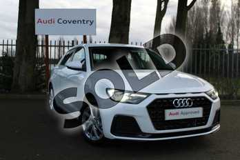 Audi A1 25 TFSI Sport 5dr S Tronic in Shell White at Coventry Audi