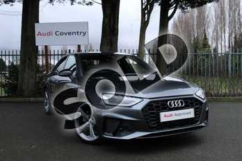 Audi A4 35 TDI Black Edition 4dr S Tronic in Daytona Grey Pearlescent at Coventry Audi