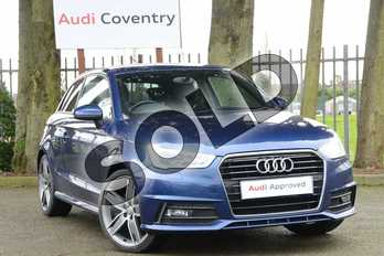Audi A1 1.6 TDI S Line 3dr in Scuba Blue Metallic at Coventry Audi