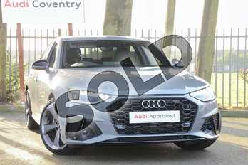 Audi A4 30 TDI Black Edition 4dr S Tronic in Quantum Grey at Coventry Audi