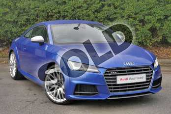 Audi TT 2.0T FSI Quattro TTS 2dr S Tronic in Sepang Blue Pearlescent at Worcester Audi