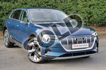Audi e-tron 300kW 55 Quattro 95kWh 5dr Auto in Galaxy Blue Metallic at Worcester Audi