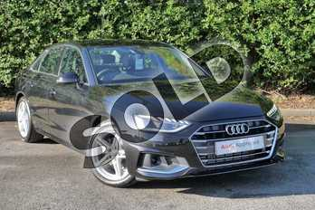Audi A4 35 TFSI Sport 4dr S Tronic in Myth Black Metallic at Worcester Audi