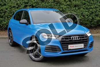 Audi Q5 40 TDI Quattro Black Edition 5dr S Tronic in Turbo Blue at Worcester Audi