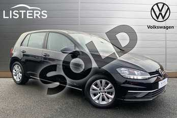 Volkswagen Golf 1.0 TSI 110 SE (Nav) 5dr in Deep black at Listers Volkswagen Stratford-upon-Avon