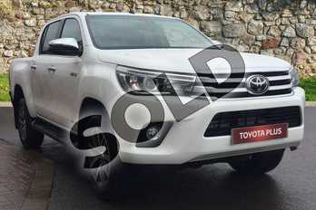 Toyota Hilux Invincible D/Cab Pick Up 2.4 D-4D (3.5t Tow) in Pure White at Listers Toyota Grantham