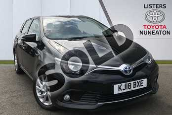 Toyota Auris 1.8 Hybrid Icon Tech TSS 5dr CVT in Black at Listers Toyota Nuneaton