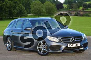 Mercedes-Benz C Class C220d AMG Line 5dr 9G-Tronic in selenite grey metallic at Mercedes-Benz of Lincoln