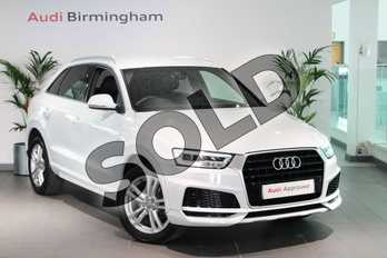 Audi Q3 2.0 TDI S Line Edition 5dr in Glacier White Metallic at Birmingham Audi