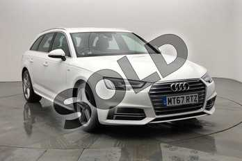Audi A4 2.0T FSI S Line 5dr S Tronic (Leather/Alc) in Ibis White at Birmingham Audi