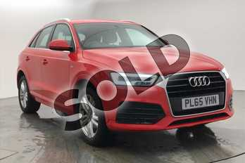 Audi Q3 1.4T FSI S Line 5dr S Tronic in Misano Red Pearlescent at Birmingham Audi