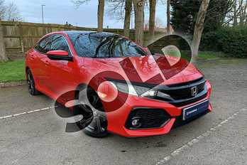 Honda Civic 1.0 VTEC Turbo 126 EX 5dr CVT  in Rallye Red at Listers Honda Coventry