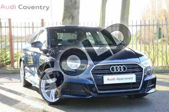 Audi A3 30 TDI 116 S Line 4dr in Cosmos Blue Metallic at Coventry Audi