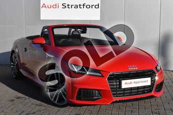 Audi TT Roadster S line 2.0 TFSI  230 PS 6-speed in Tango Red Metallic at Stratford Audi